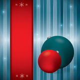 Christmas background with glowing stars Stock Photo