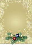 Christmas background gold Royalty Free Stock Photography