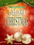 Christmas background with gold baubles. EPS 10 Stock Photos