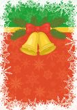 Christmas background with gold bells Royalty Free Stock Images