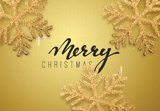 Free Christmas Background Gold Color With Beautiful Snowflakes Royalty Free Stock Photos - 82697808