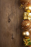 Christmas background with gold decoration Royalty Free Stock Photo