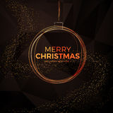Christmas background with gold magic star. Vector illustration Stock Photos
