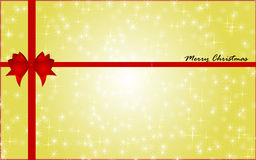 Christmas background. Christmas gold background with red bow Stock Image