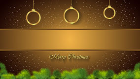 Christmas Background gold. Christmas background for seasonal cards and event, posters Stock Illustration