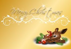 Christmas background gold Stock Photography