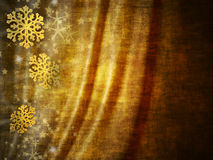 Christmas background in gold tones. Decorated with snowflakes stock illustration
