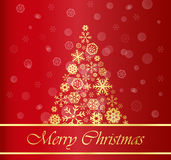 Christmas Background with Gold Tree Royalty Free Stock Photos