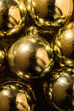 Christmas background with gold. Christmas tree decorations Royalty Free Stock Photos