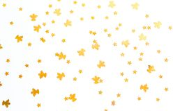 Christmas background. Golden angels and stars on white background. Christmas background. Golden angels and stars on white background stock image