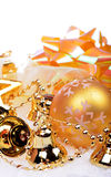 Christmas background with golden balls Royalty Free Stock Image