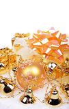 Christmas background with golden balls Royalty Free Stock Photos
