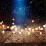 Christmas background with light effects Royalty Free Stock Photos