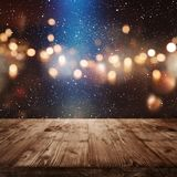 Christmas background with light effects Royalty Free Stock Image