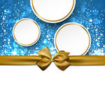 Christmas background with golden bow. Royalty Free Stock Photography