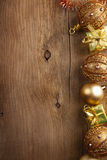 Christmas background with golden decoration Royalty Free Stock Photography