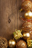 Christmas background with golden decoration Stock Photography