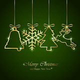 Christmas background with golden elements Royalty Free Stock Photo