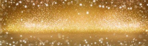 Christmas background. Golden glitter bokeh Stock Photography