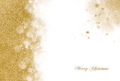 Christmas background with golden glitter Stock Photography