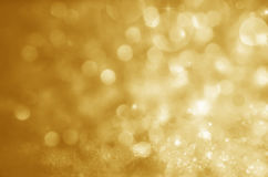 Christmas Background. Golden Holiday Abstract Glitter Defocused Stock Image