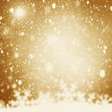Christmas Background. Golden Holiday Abstract Glitter Defocused royalty free stock image