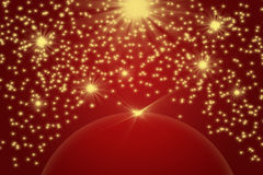 Christmas background with the golden light and stars Royalty Free Stock Image