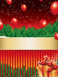 Christmas background with golden ribbon Royalty Free Stock Photography