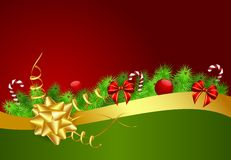 Christmas background with golden ribbon Royalty Free Stock Photo