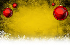Christmas background. Golden christmas background with snowflakes Royalty Free Stock Image