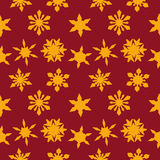 Christmas background with Golden snowflakes Royalty Free Stock Image