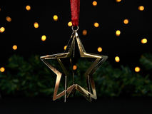 Christmas background with golden star Royalty Free Stock Photo