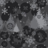 Christmas background in gray colors. Christmas seamless background in shades of gray Stock Image