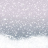 Christmas background. Gray with snowflakes Stock Photography