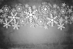 Christmas background in gray and white Stock Photo