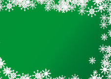 Christmas background on green Royalty Free Stock Photo