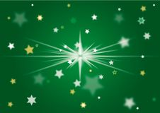 Christmas Background green. Green christmas background with stars Royalty Free Stock Photo