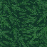 Christmas background with green alder twigs, vector Royalty Free Stock Image