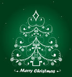 Christmas background  on green background Royalty Free Stock Photos