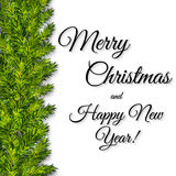 Christmas background with green christmas tree branches Royalty Free Stock Photo