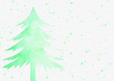 Christmas background - Green Christmas tree with sparkle light b Royalty Free Stock Photos