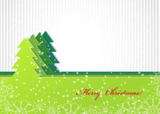 Christmas background with green fir-tree Stock Photos