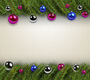 Christmas background with green fir tree Royalty Free Stock Image