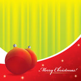 Christmas background - green and red colors. Vector Christmas background - green and red colors Stock Photography