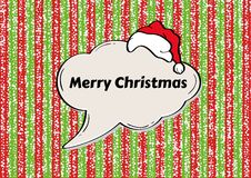 Christmas background with green and red stripes Royalty Free Stock Photography