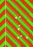 Christmas background with green and red stripes Royalty Free Stock Images
