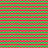 Christmas background with green and red zig-zag stripes. Royalty Free Stock Images