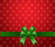 Christmas background green ribbon Stock Photo