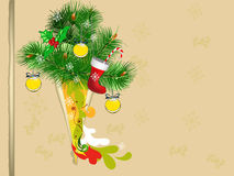 Christmas background with green tree Royalty Free Stock Photography