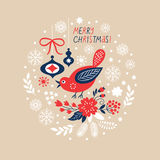 Christmas background, greeting card Royalty Free Stock Photo